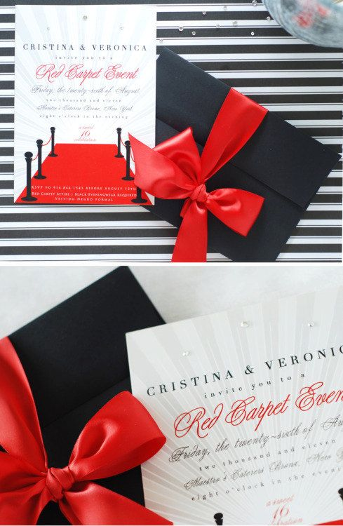 Red Carpet Invitation Digital Printable Diy Invite Logros