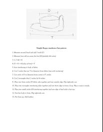 Simple floppy musketeer hat pattern  e43490af453
