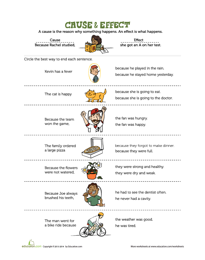 46++ Cause and effect worksheets kindergarten Ideas In This Year