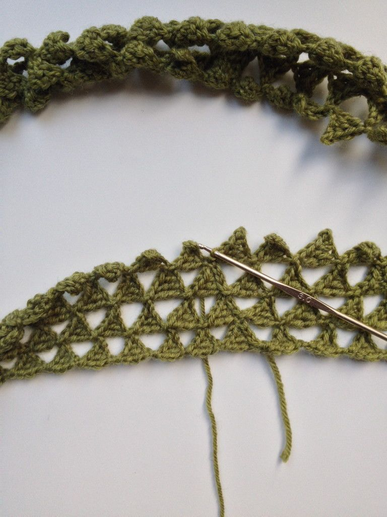 Triangle Crocheted Infinity Scarf free pattern by Friendly ...
