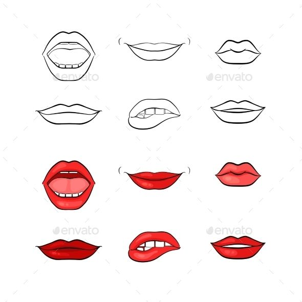 Woman Lips And Mouth Silhouettes Silhouette Painting Dark Art