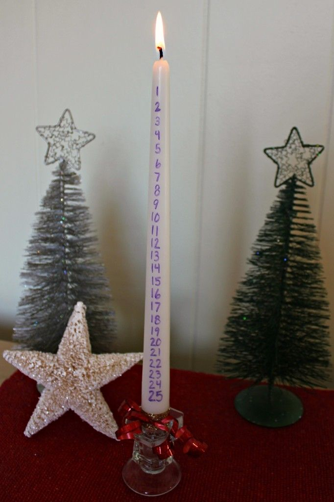 685e851d Make your own Advent / Christmas Countdown Candle - DIY, Craft - Create a  special family tradition! :)