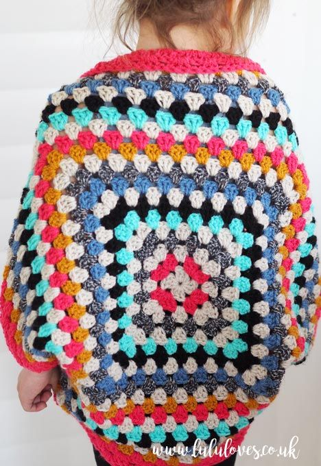 Lululoves - Crochet Granny Square Shrug | Crochet | Pinterest ...