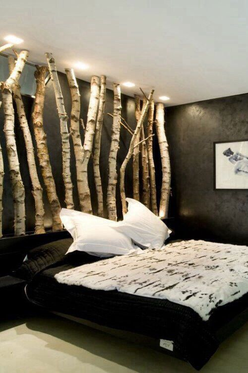 white tree branch bed frame | Birch Wood bed frame - Wall Art | Bedroom Ideas in 2018 ...