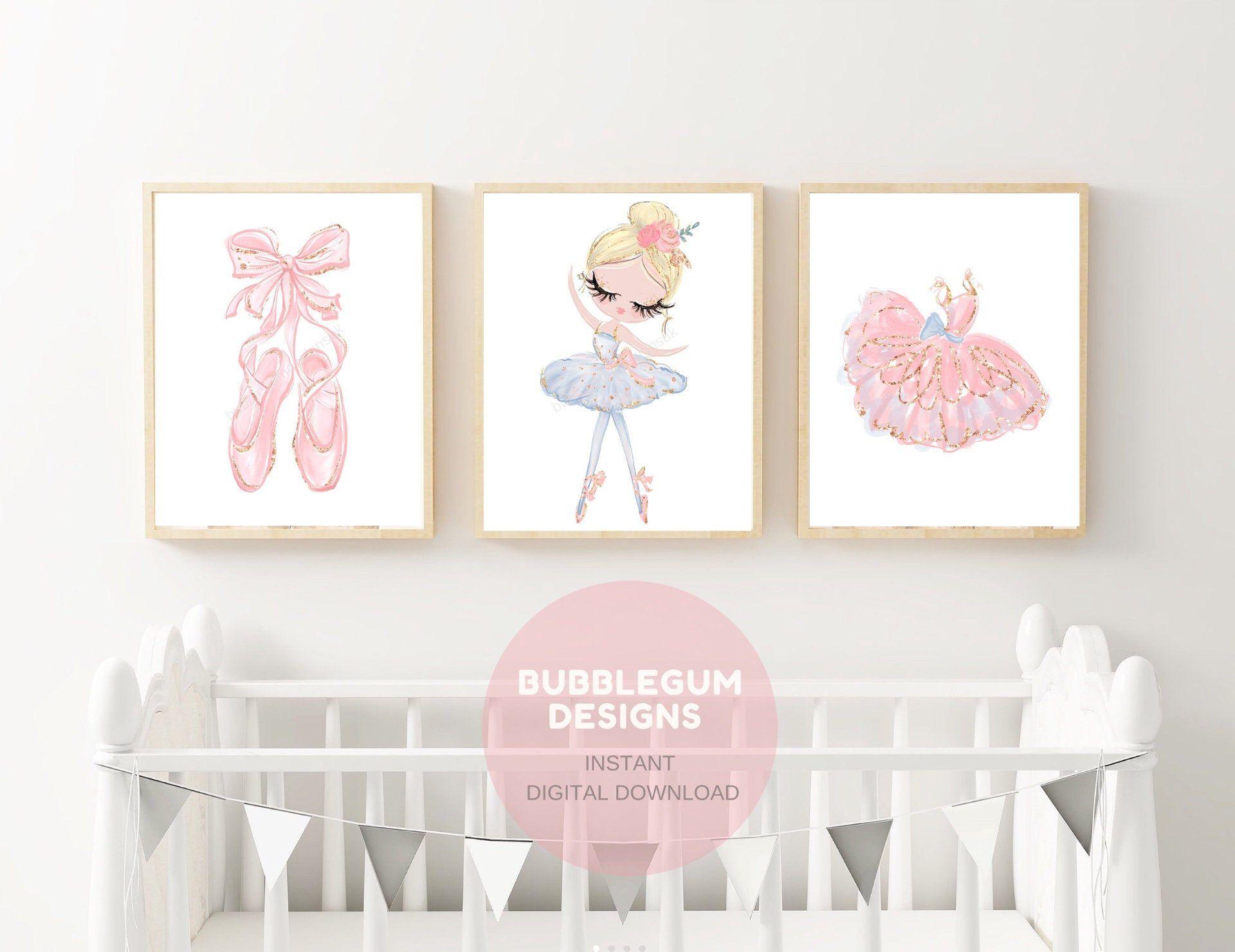Ballerina Nursery Wall Art Ballerina Printable Art