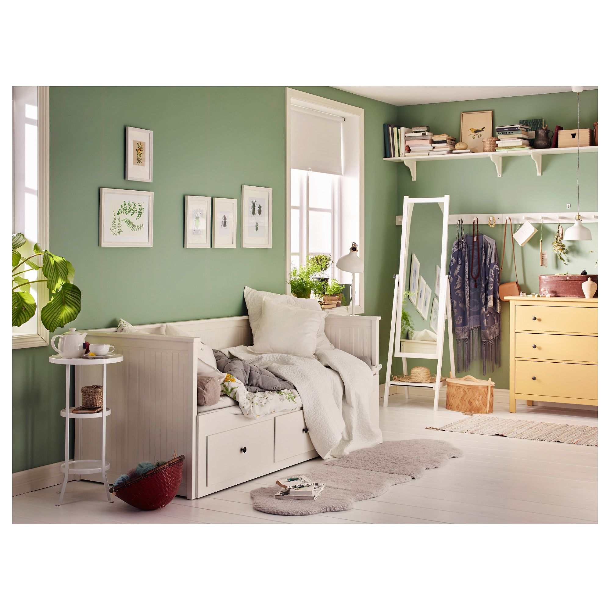 Ikea Hemnes Daybed Frame With 3 Drawers White Kids
