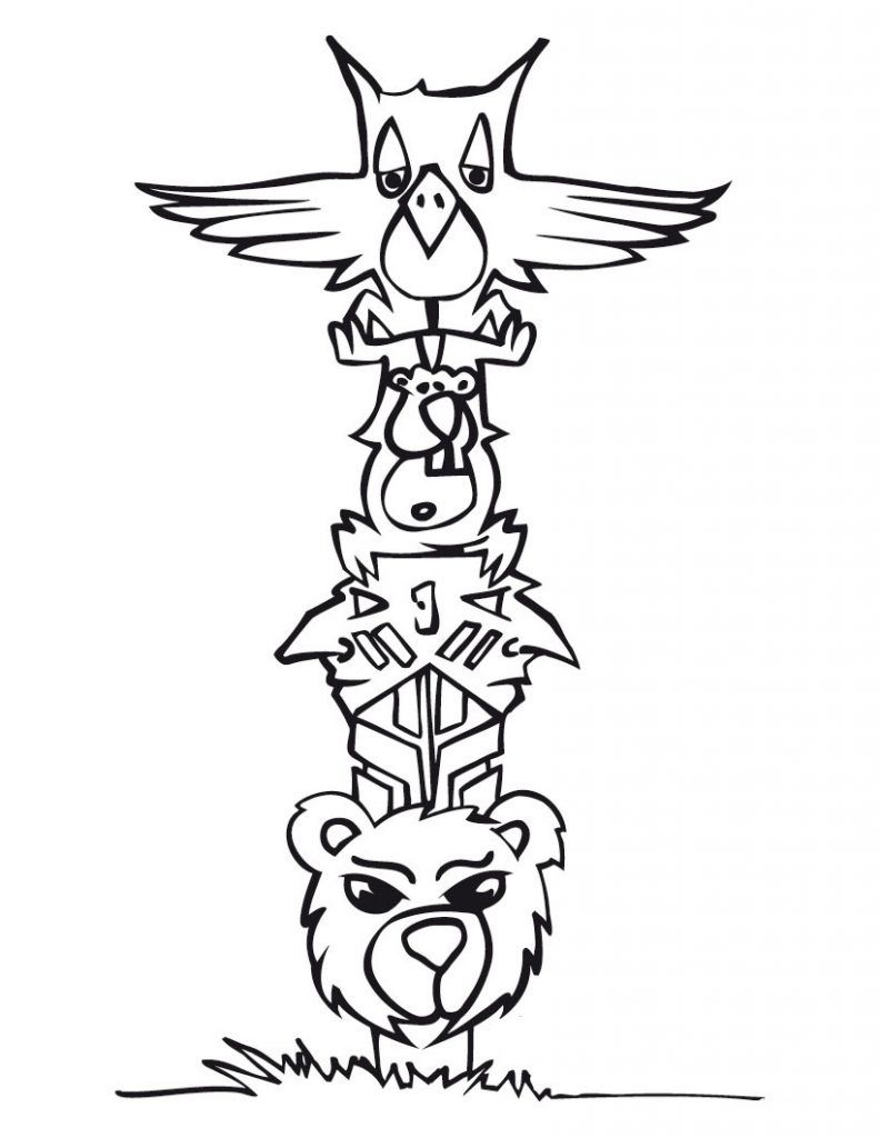 Free Printable Totem Pole Coloring Pages For Kids | Animales