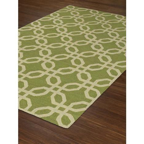 Super Area Rugs Green Rug Indoor/Outdoor Chainlink Design 9ft X 13ft (Large 10 X 13) Carpet TE8LI9