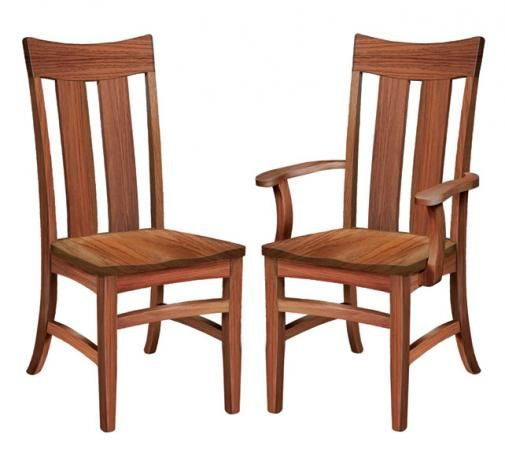 Galveston Shaker Dining Chairs By Homestead Furniture Made In Amish Country.