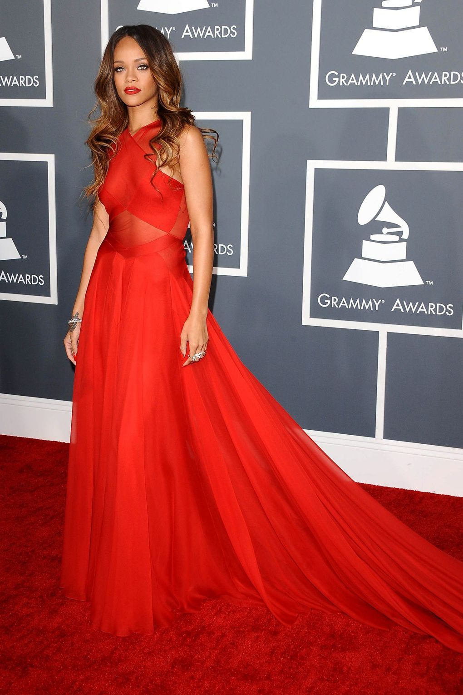 Rihanna's Red Carpet Evolution | Rihanna red dress, Red ...