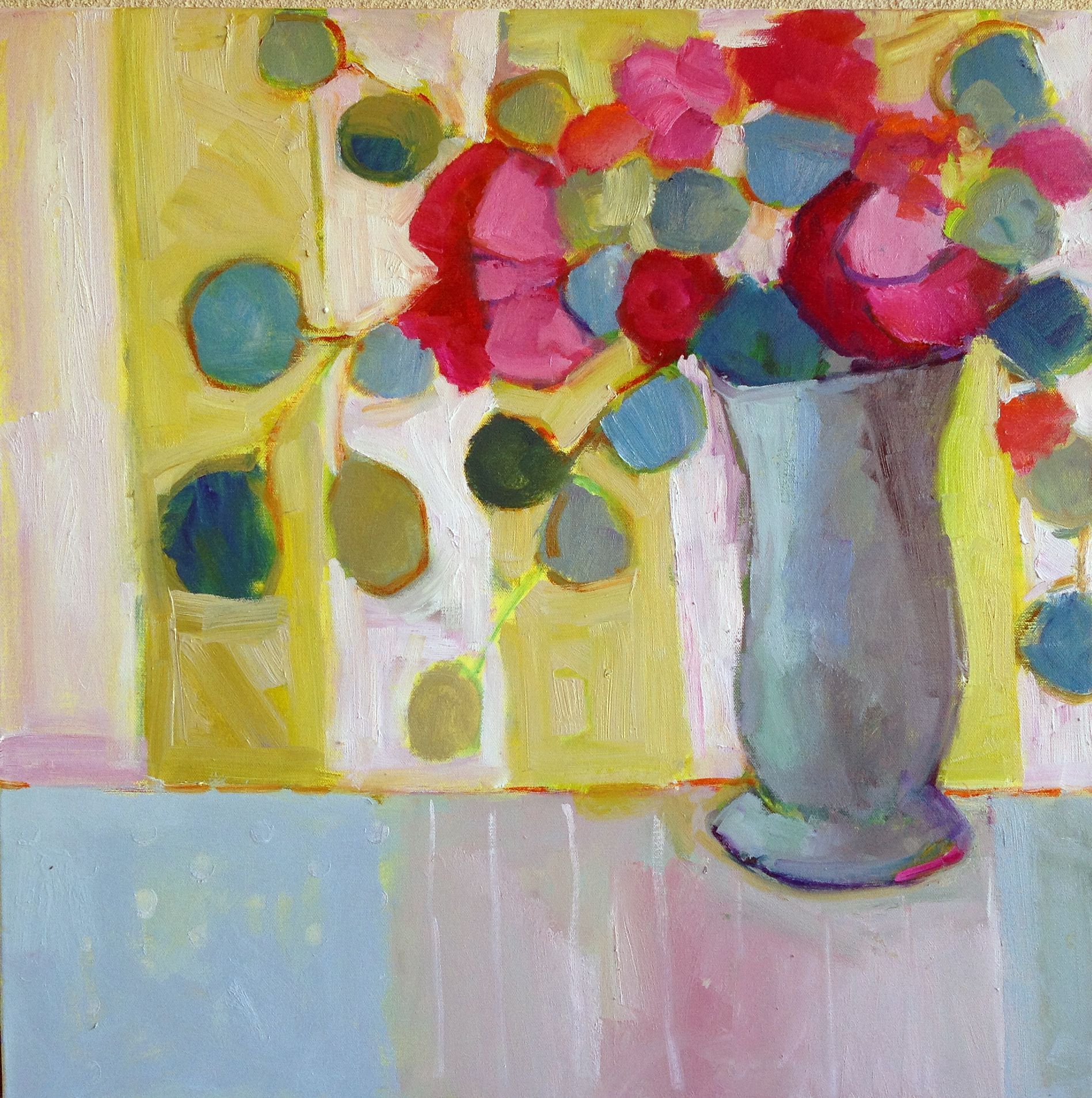 """""""Afternoon Roses"""" 24x24 by Annie O'Brien Gonzales"""