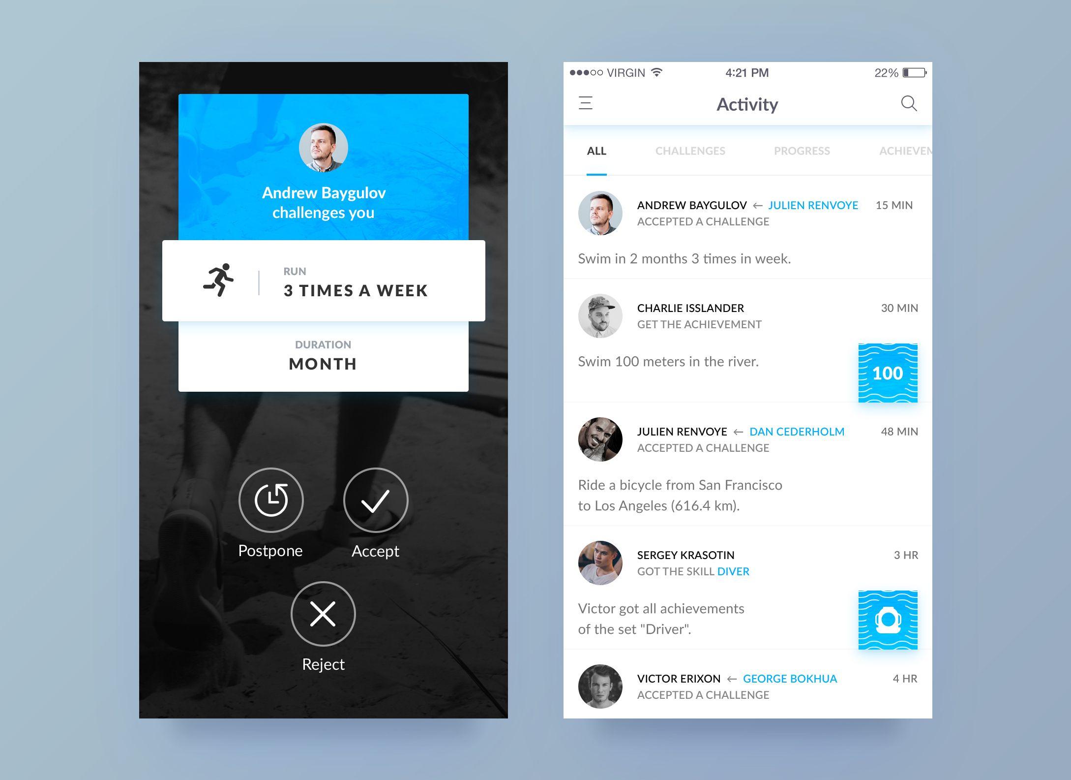 Dribbble social app ui design jpg by ramotion - Dribbble Challenge App By Nicholas