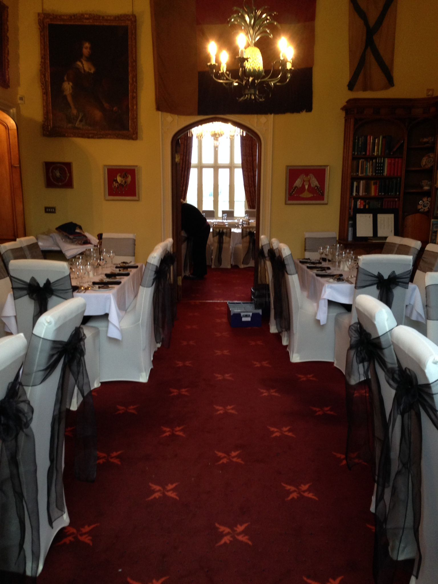 Chair Covers Yeovil Hard Floor Mat Dillington House Somerset Black Sash On Ivory
