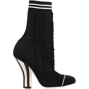 Fendi Knit Lace-Up Booties get authentic sale online prZAmOv3m