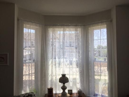 Rod Desyne 72 In 147 Adjule Lockseam Single Bay Window Curtain White Kls At The Home Depot Mobile