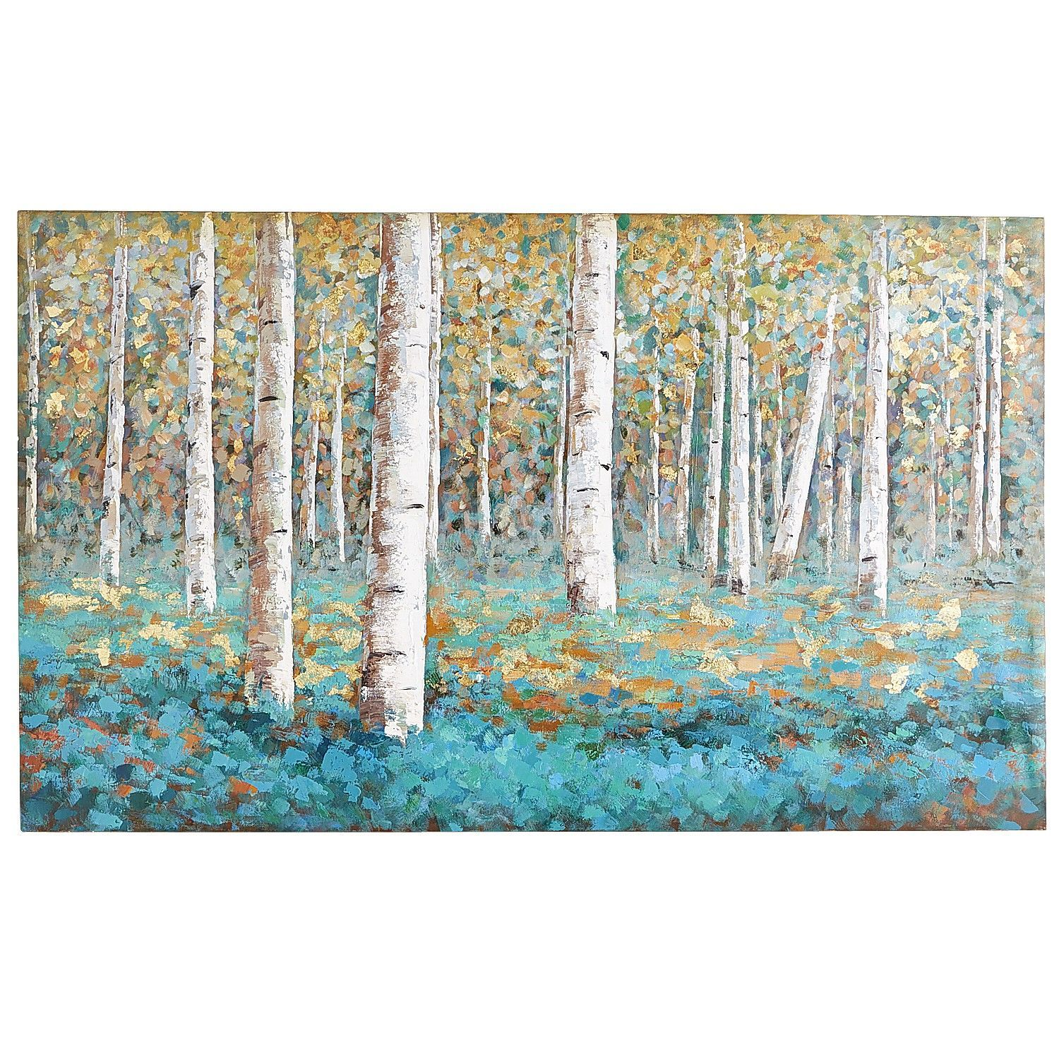 Luxe Teal Birch Tree Art Tree Art Birch And Teal