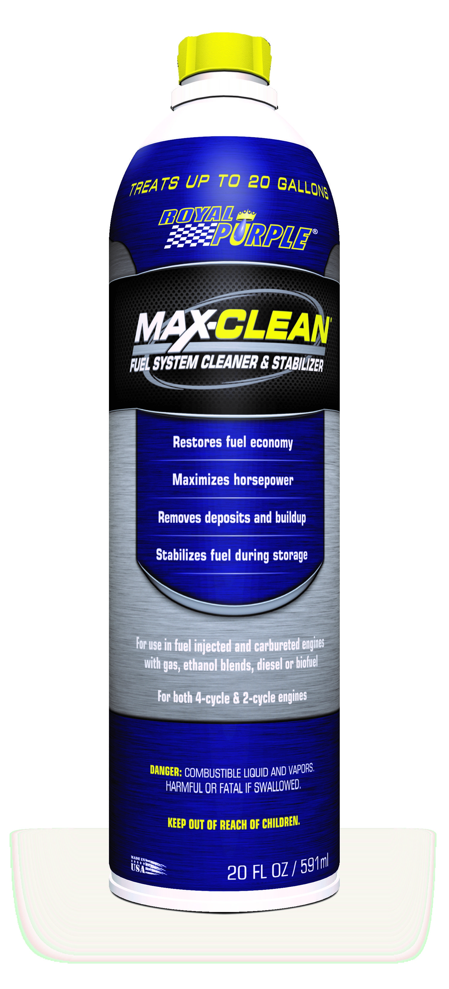 Royal Purple Introduces A New Fuel System Cleaner Max Clean Cleans Injectors Restores Fuel Economy And Reduces Both Eng Fuel Economy Synthetic Oil Automotive