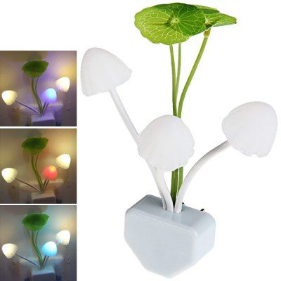 LED Intelligent Sensor Control Colorful Dream Night Light Avatar Mushroom Lamp Decoration Gift