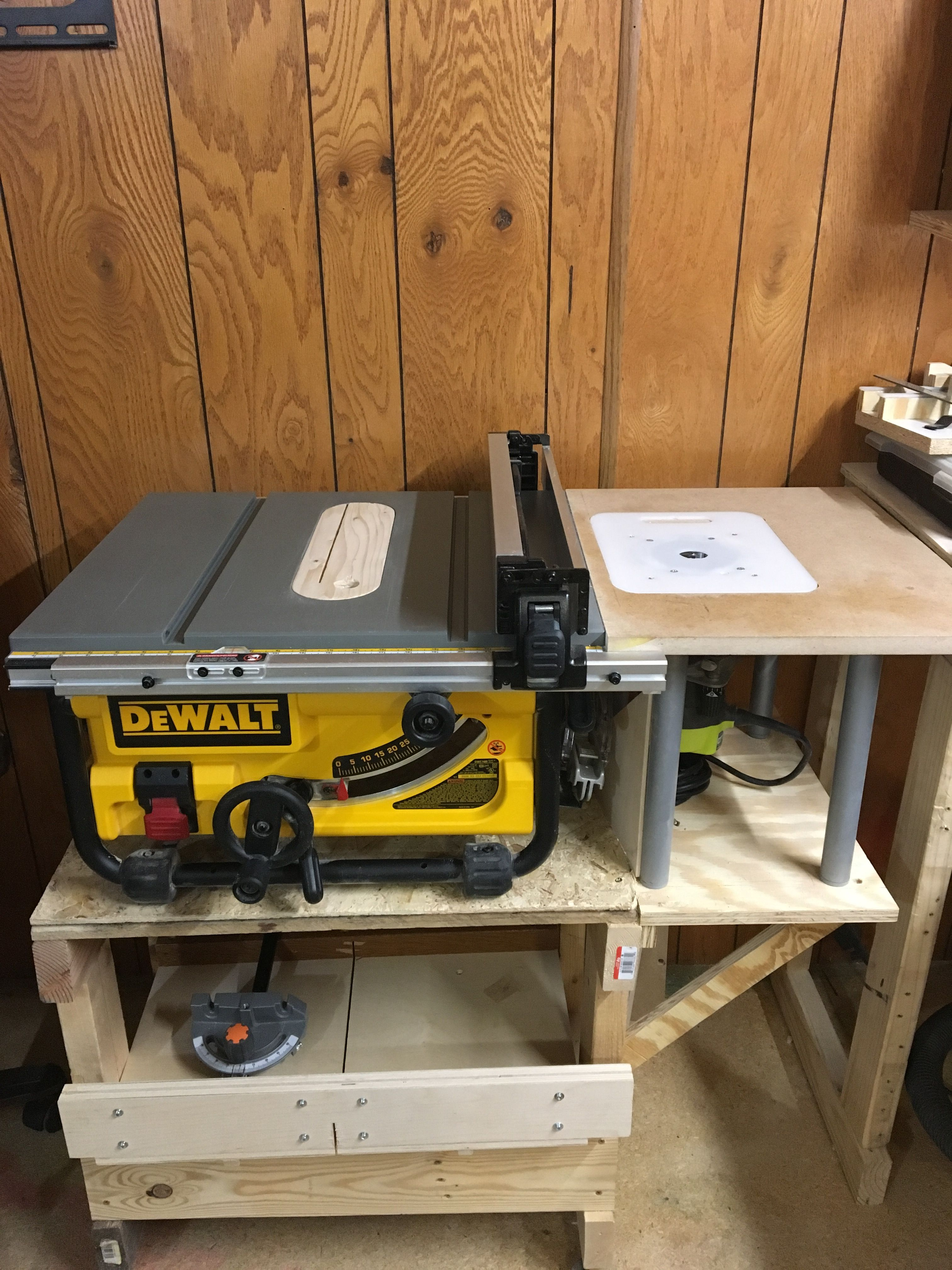 Dewalt Table Saw Router Combo Diy Router Table Woodworking Shop