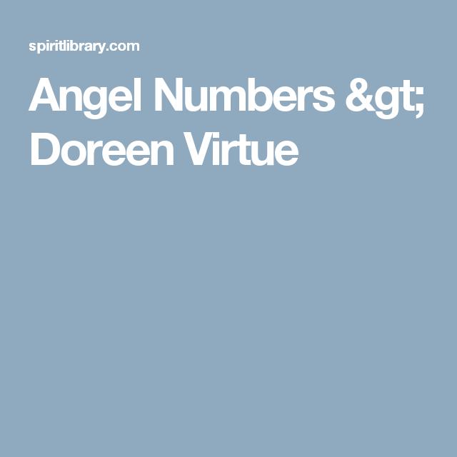 Angel Numbers > Doreen Virtue | Angel numbers, Doreen ...