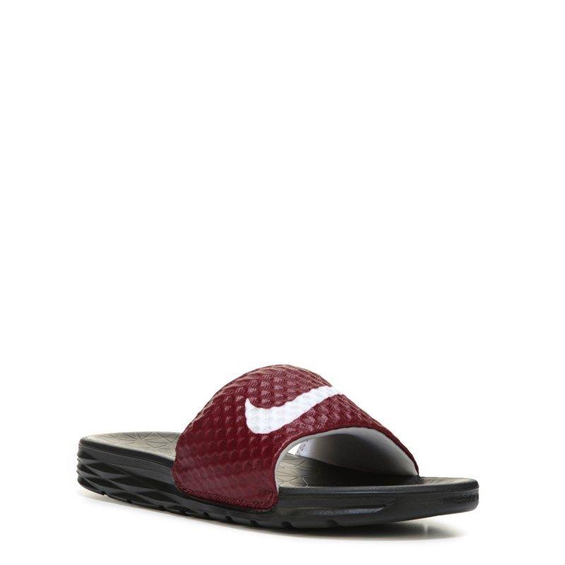 943d7802d661 Nike Men s Solarsoft 2 Slide Sandals (Burgundy Team Red Wh) - 13.0 M