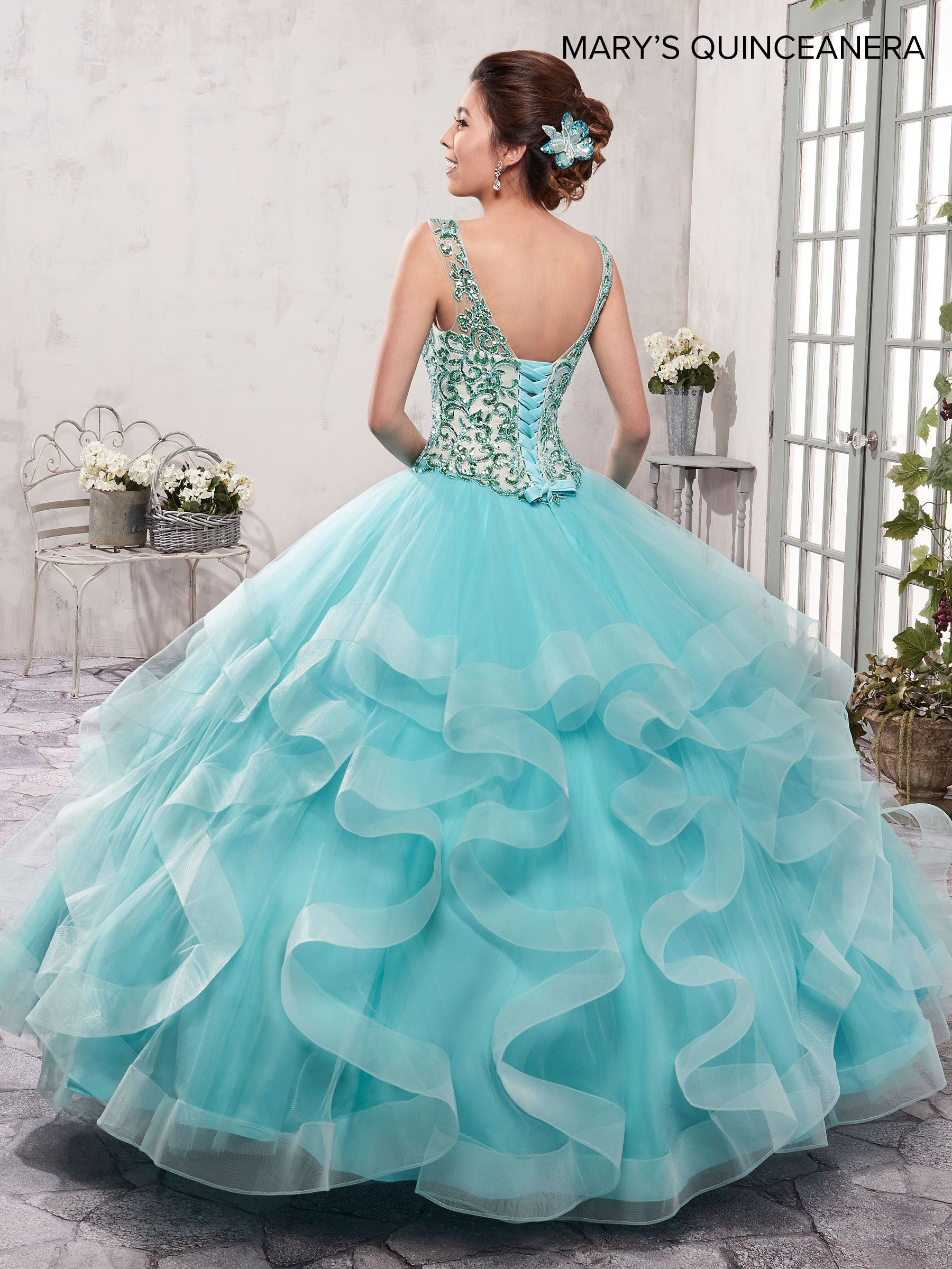 Sleeveless Ruffled Quinceanera Dress by Mary\'s Bridal M4Q2009 ...