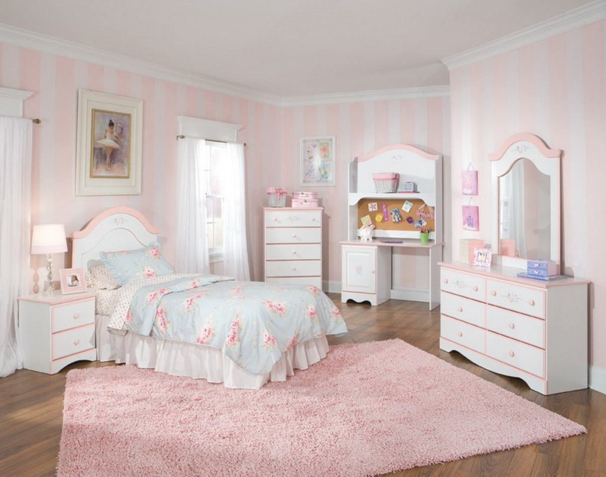 Pink And White Bedroom Painting Furniture Ideas