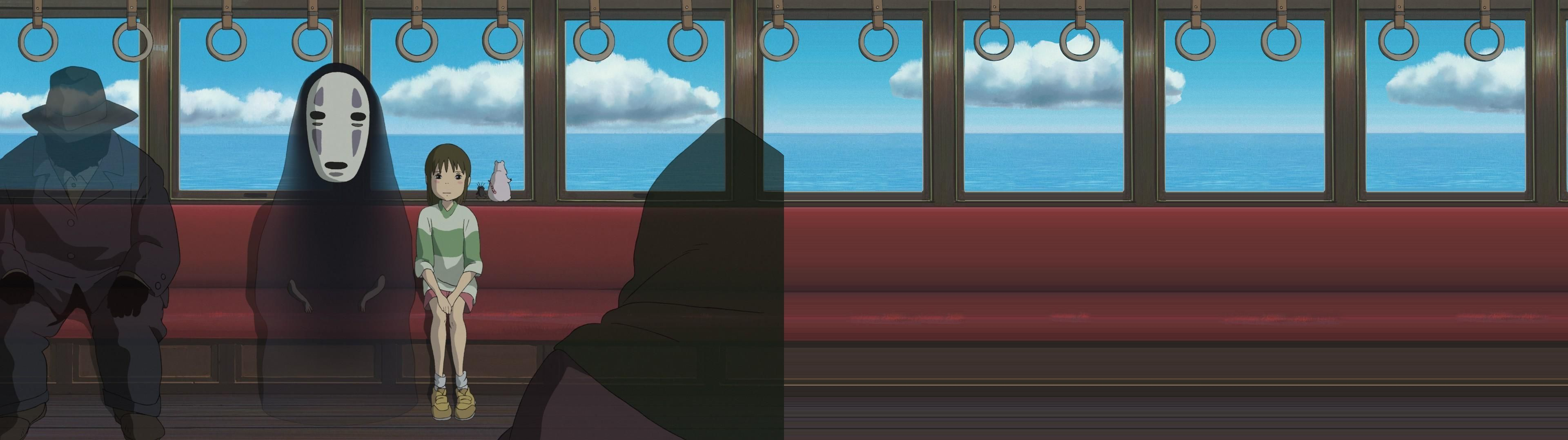 Spirited Away [3840x1080] via Classy Bro (With images