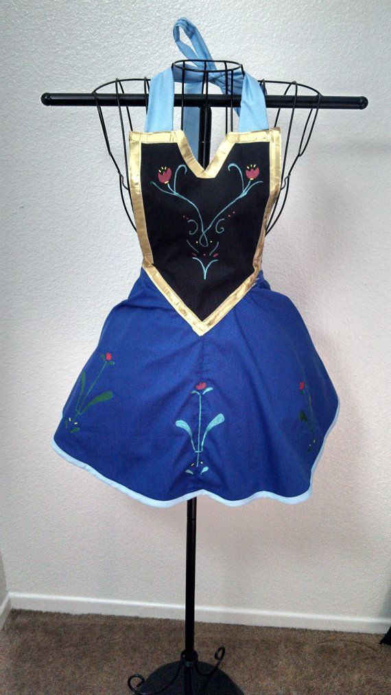 Frozen's Anna Inspired Woman's Apron MTO by JinxNSparkyCrafts, $60.00