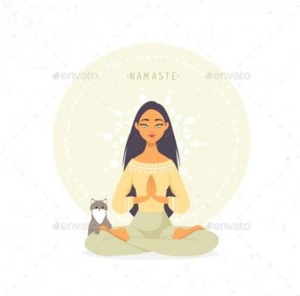 58 super ideas for yoga ilustration cat  yoga