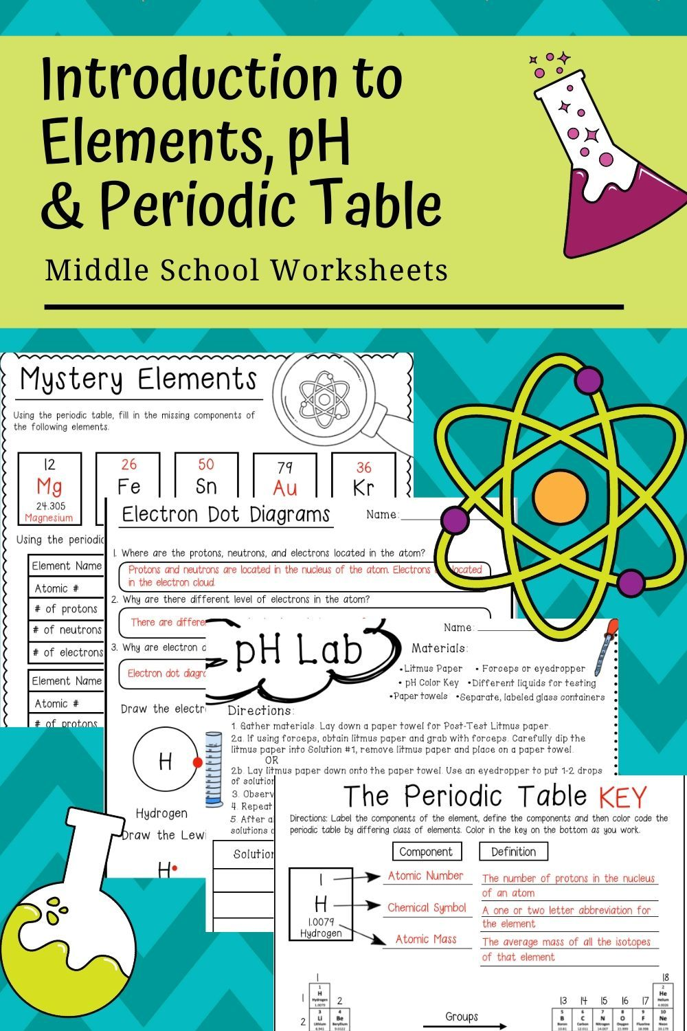 Intro To Periodic Table Elements And Ph In 2020 Middle School Science Teacher Middle School Resources School Worksheets