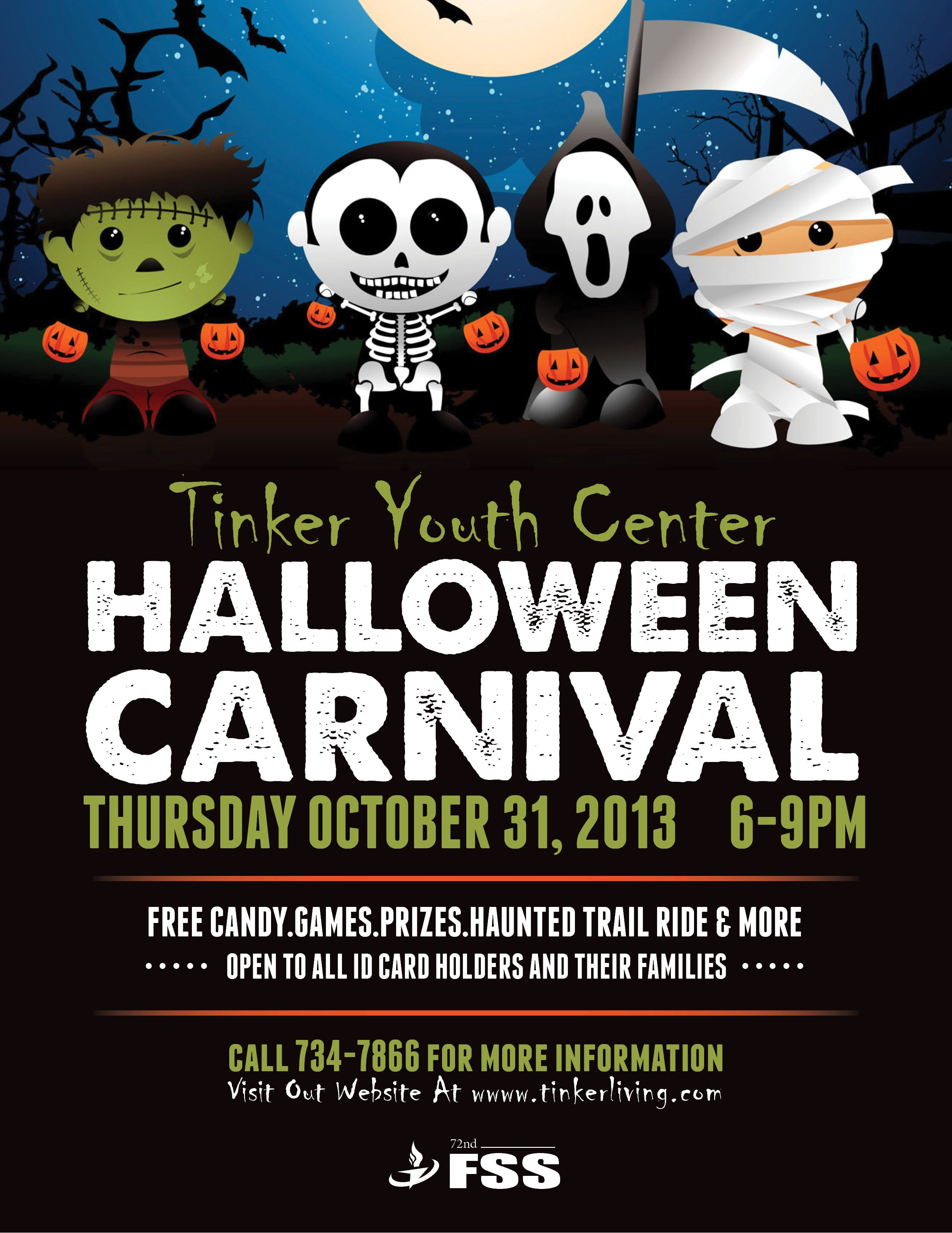 Halloween Costume Contest Flyer Yc Halloween Carnival Flyer ...
