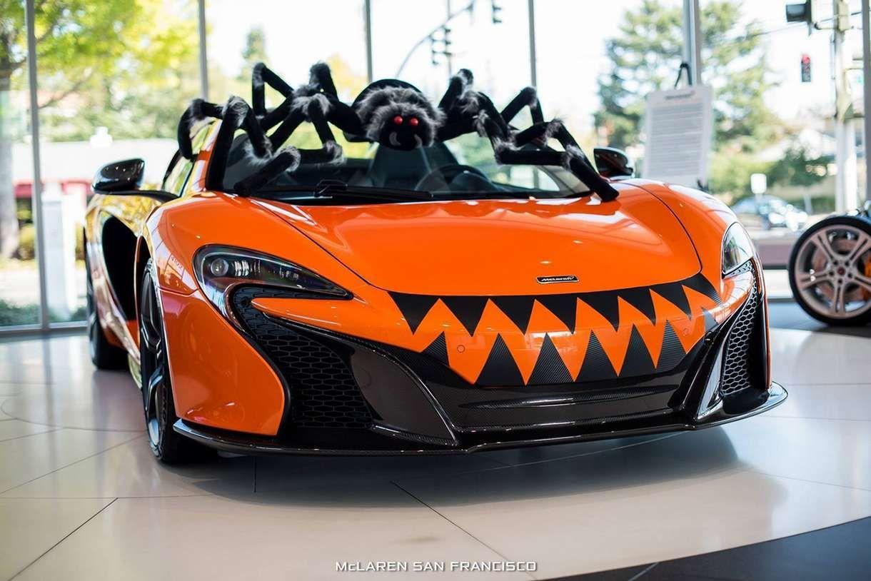 Maclaren Transformée En Citrouille Pour Halloween Lol Xd Mclaren 650s Mclaren Fastest Production Cars