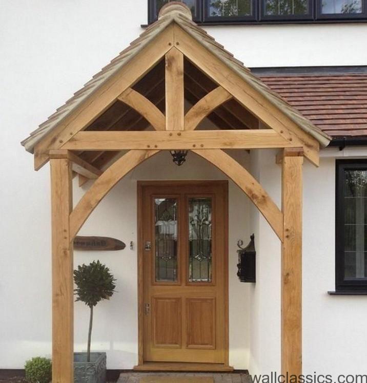Front-door-awnings-wood | Doors | Pinterest | Front door ...