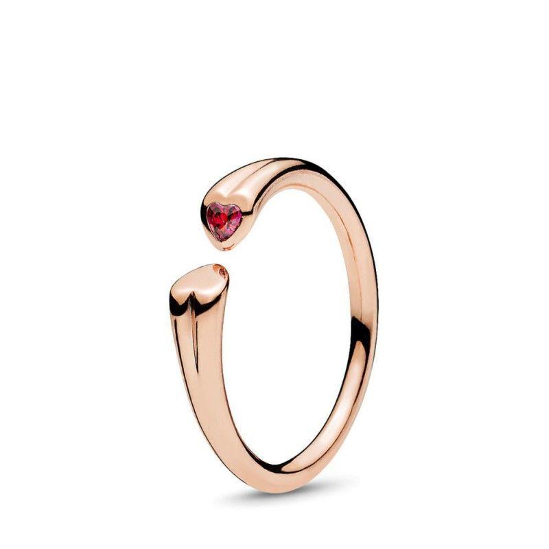 anello pandora con due cuori
