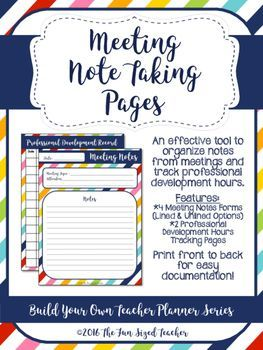 Meeting Note Taking Template Meeting Notes And Professional Development Log  Professional .
