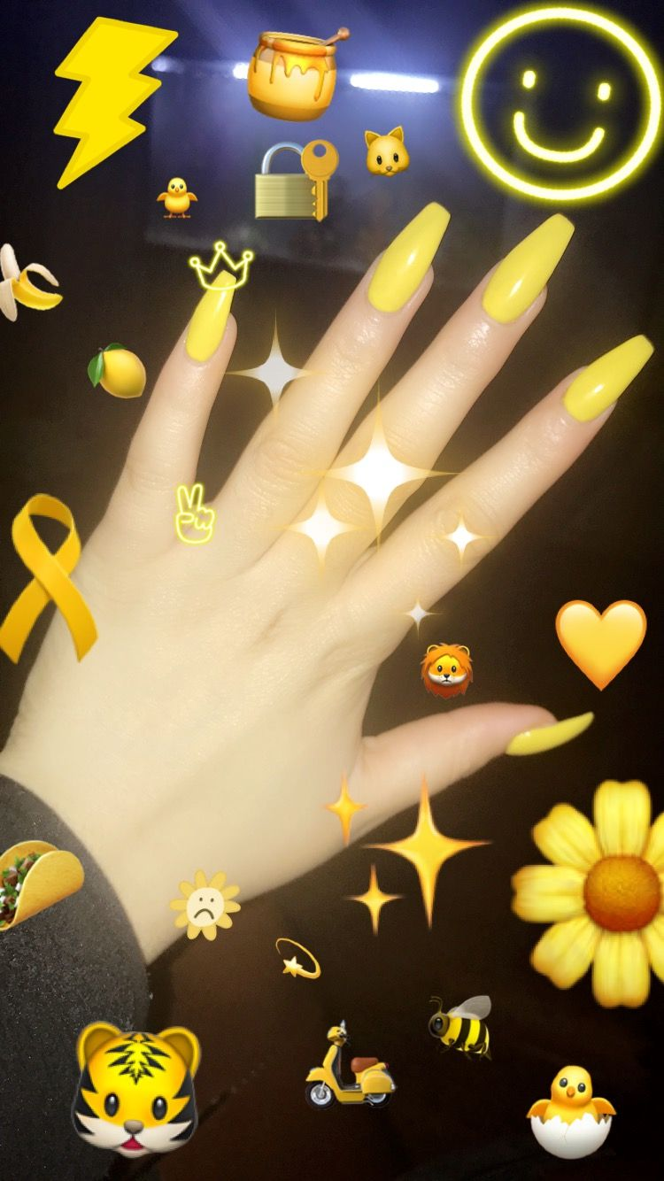 First Time Trying This Color Really Loved It Yellow Nail Art Yellow Nails Yellow Nails Design