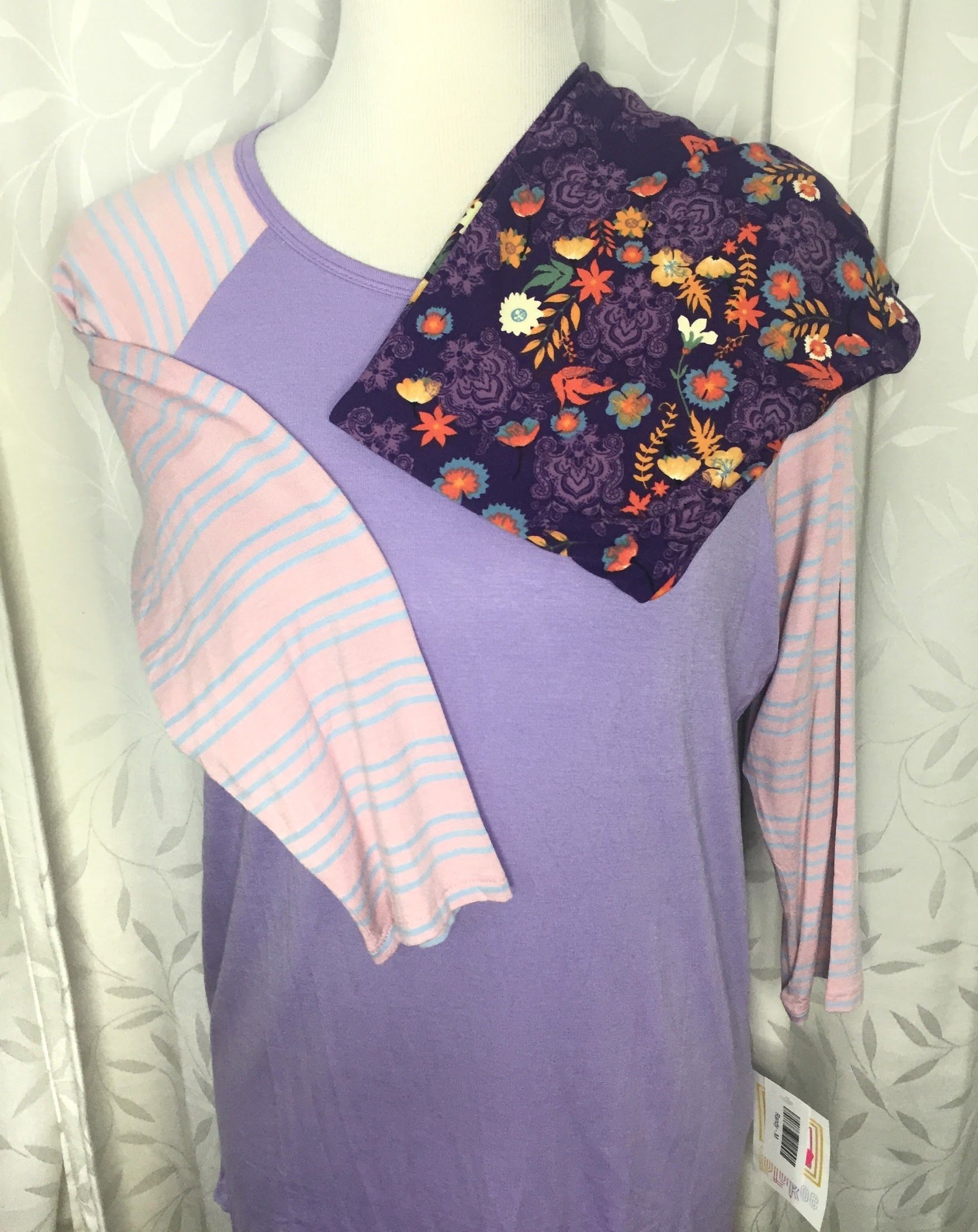 LuLaRoe Cotton Candy Pink and Lilac Randy with Printed ...