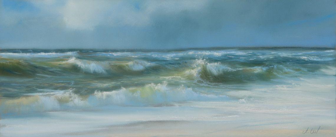 Astrid Volquardsen - Wellenrauschen, Pastel painting