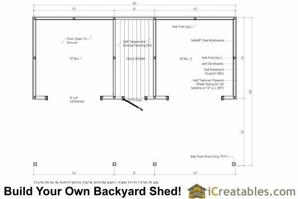 Run In Shed With Tack Room And Breezeway Run In Shed Tack Room Shed