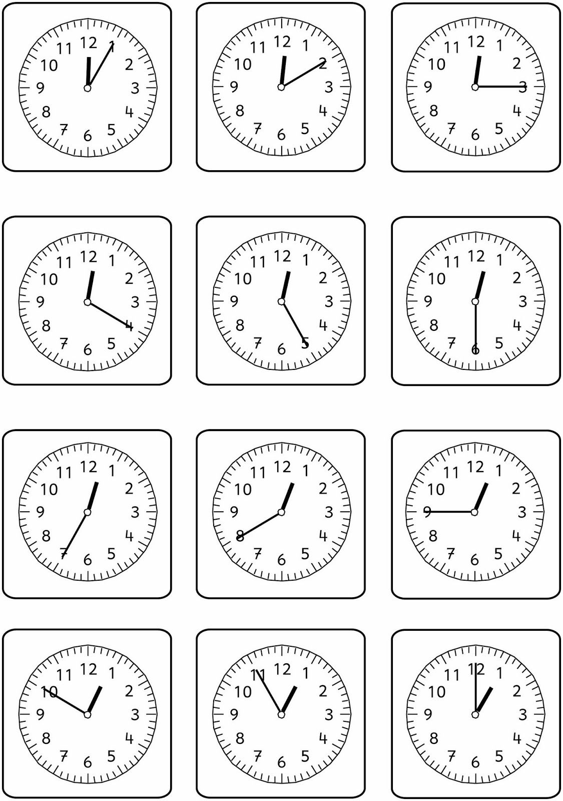 Uhrenblitzblick Uhrzeit Lernen Uhrzeit Grundschule Lernen