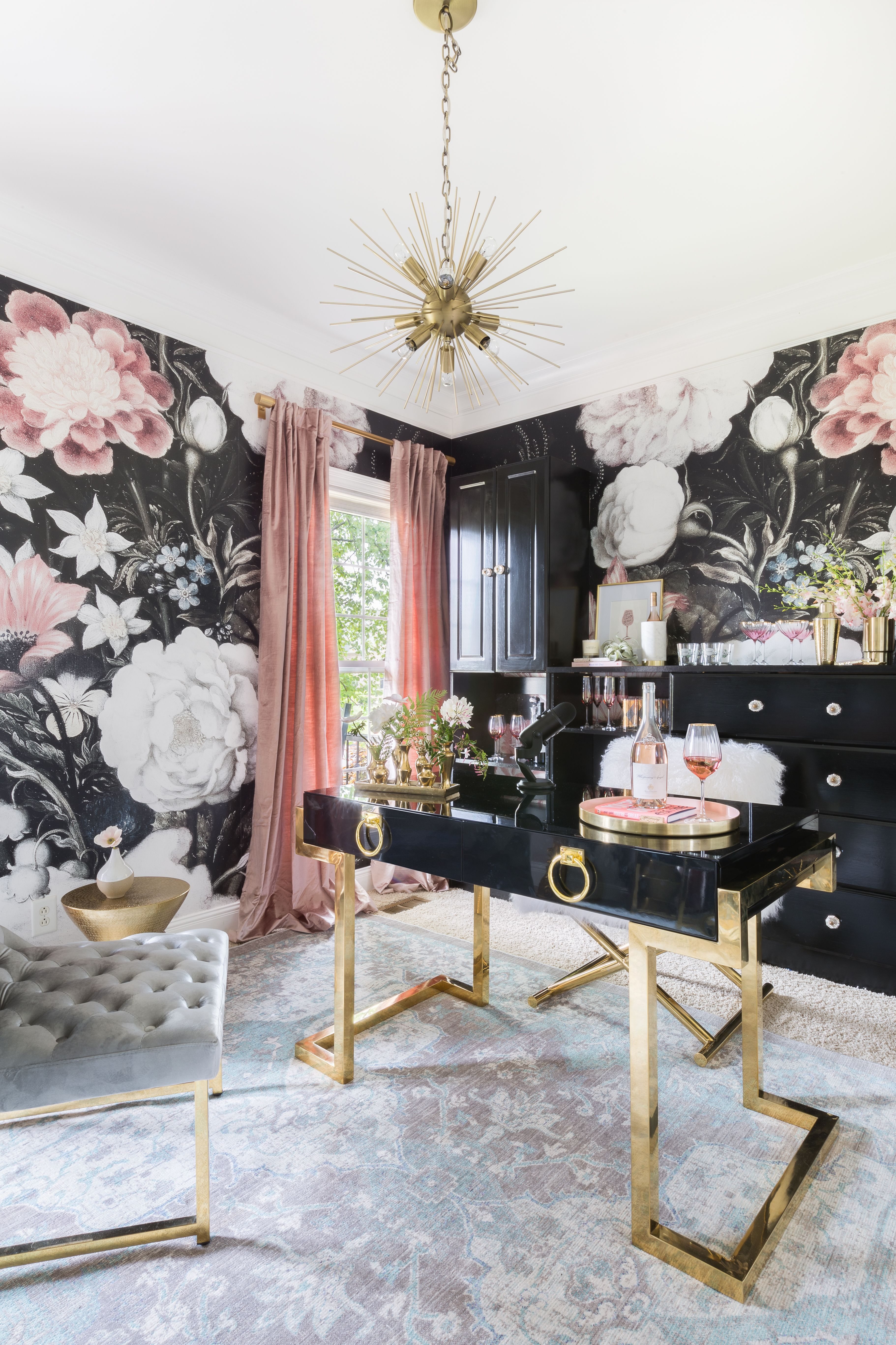 expert tips on how to do maximalism right office makeover home space also masculine glam offices in pinterest rh