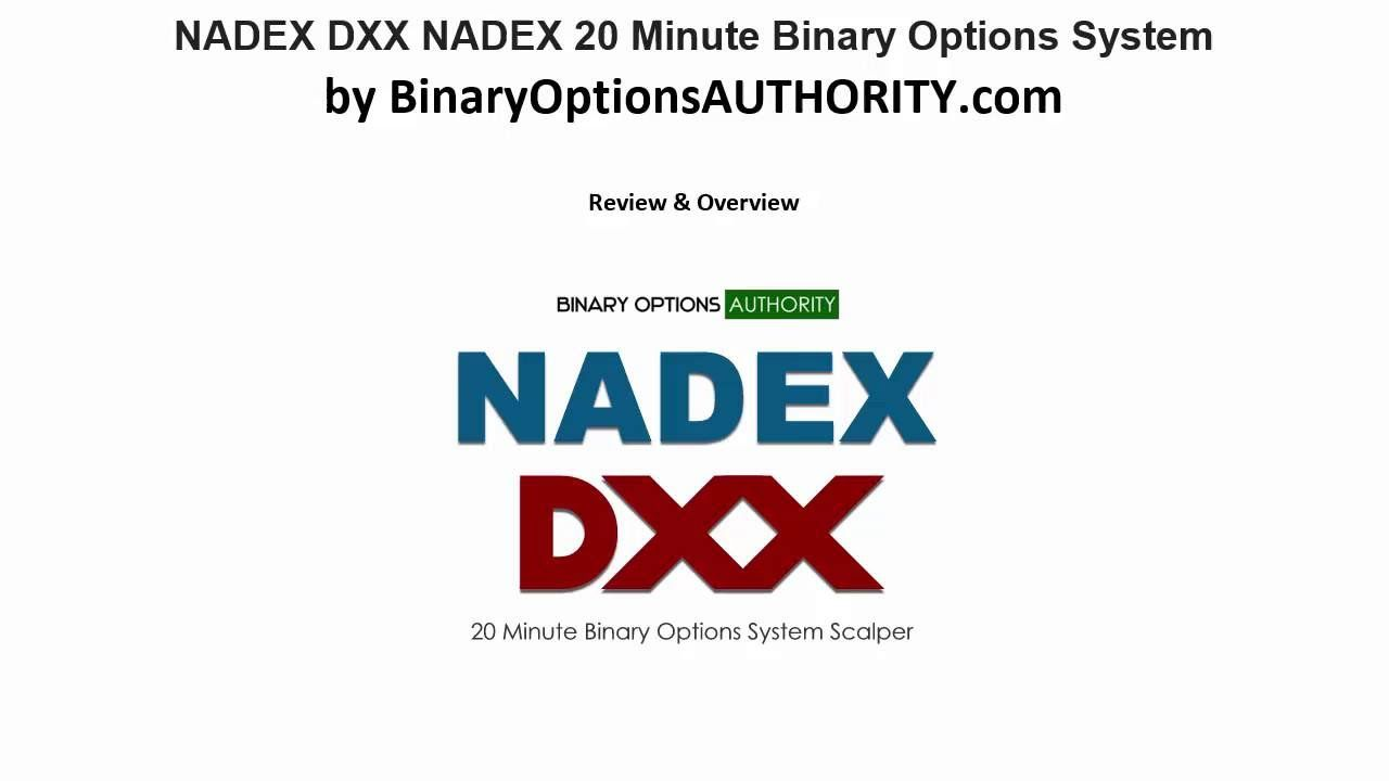 nadex binary options system