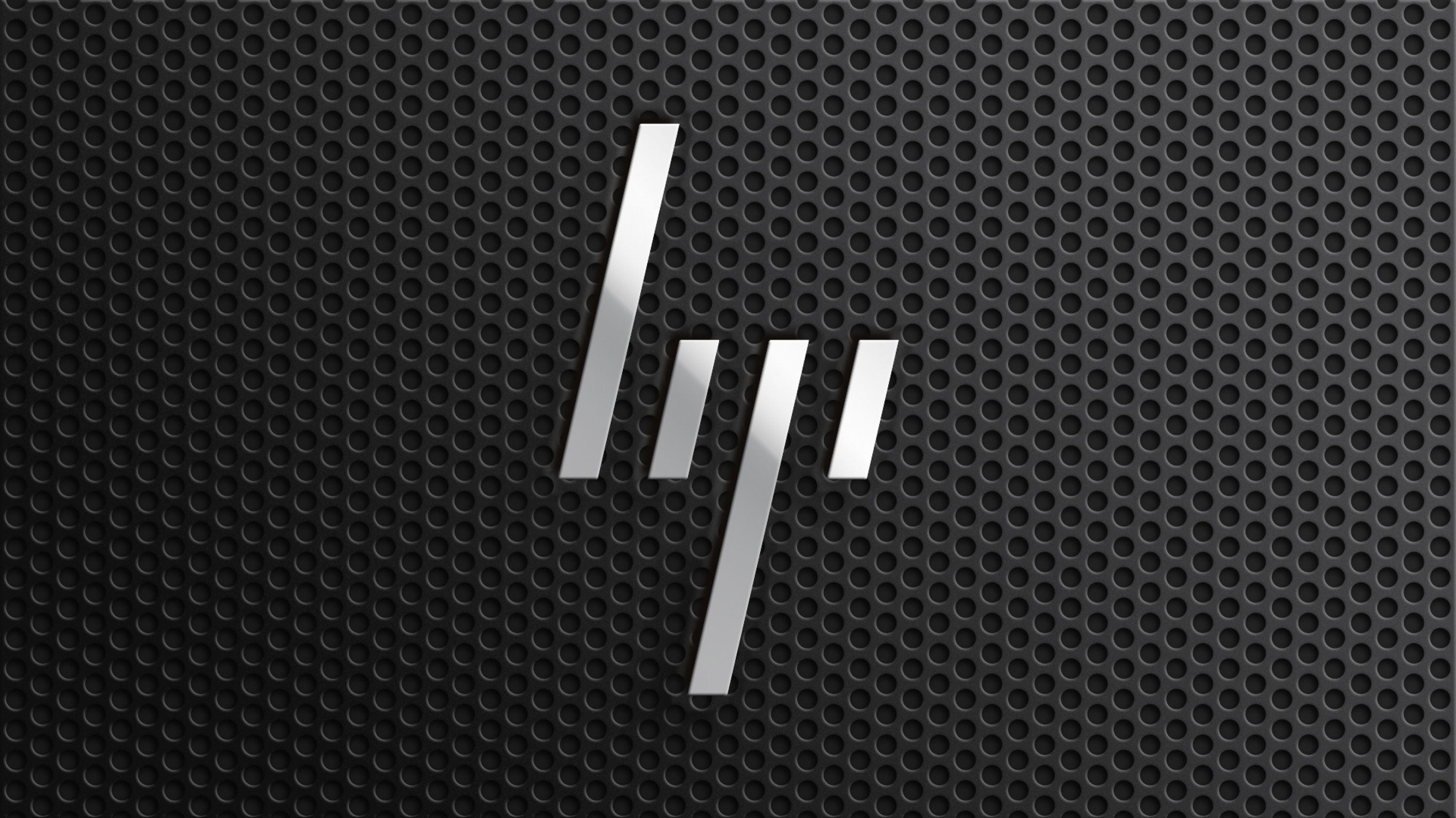 Rebranding Hewlett Packard. The abstract HP insignia that