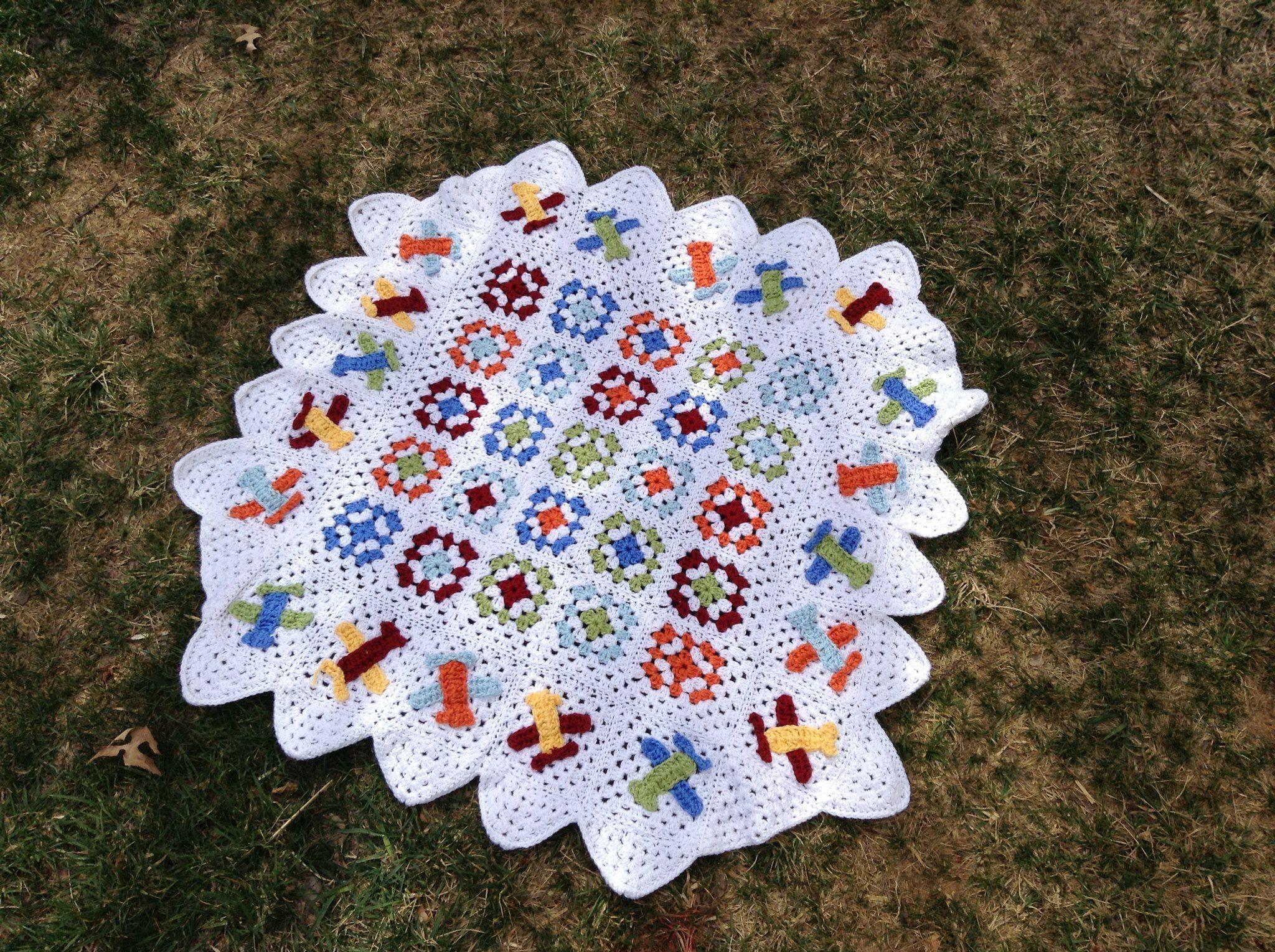 Crocheted Airplane Blanketo Cute Httpsfacebook