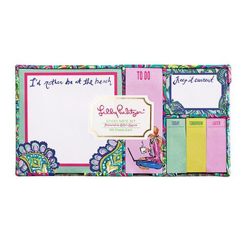 Lilly Pulitzer Sticky Note Set - Lilly's Lagoon