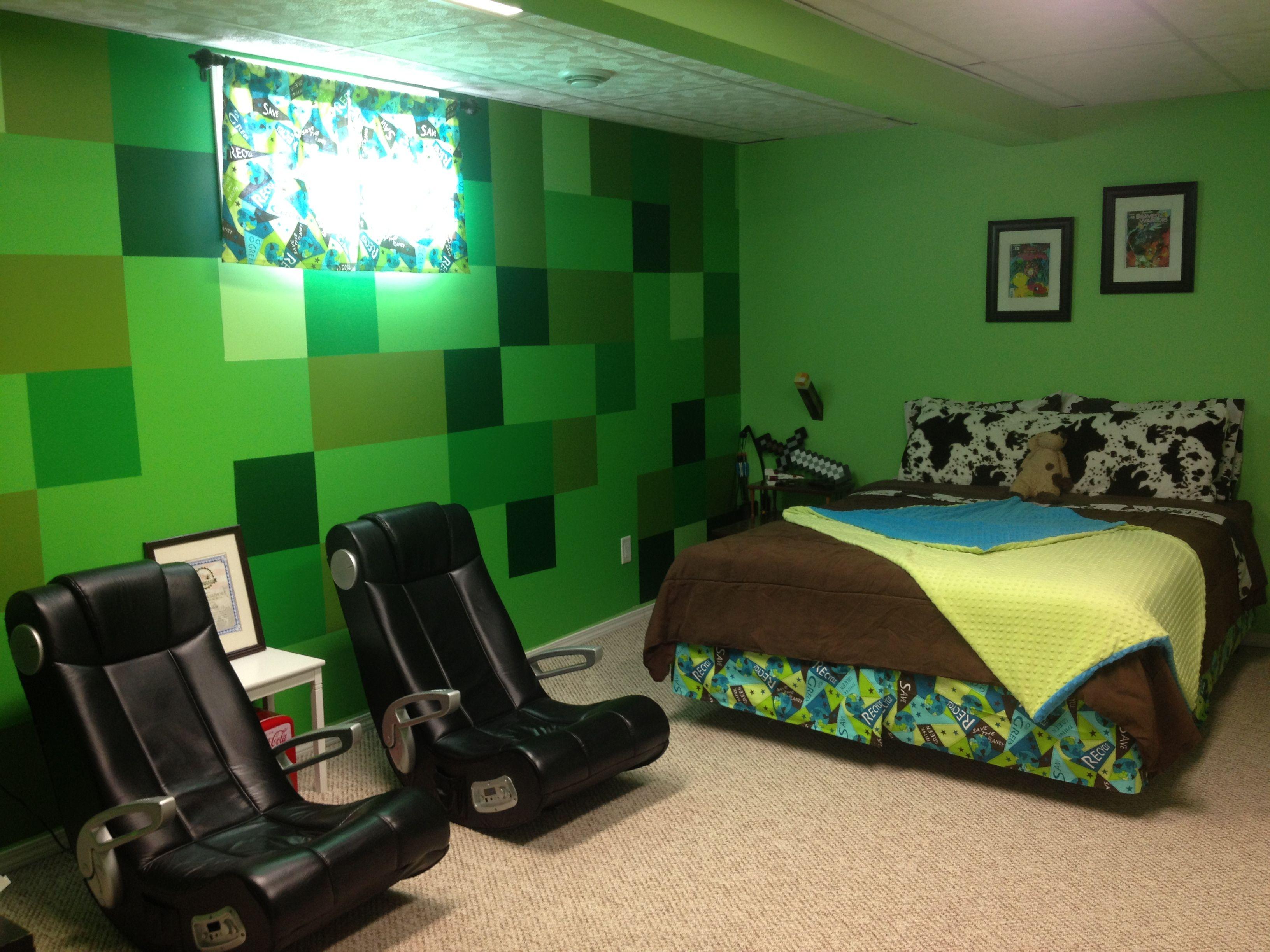 Mine craft bedroom yes kids pinterest ideen und kreativ - Minecraft schlafzimmer ...