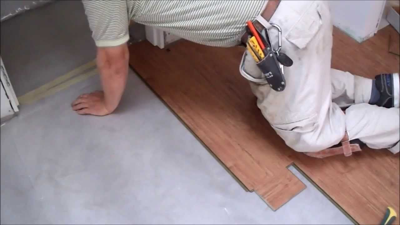 How To Install Laminate Flooring On Concrete Slab In Tiny Room Installing Laminate Flooring Laying Laminate Flooring Wood Laminate Flooring