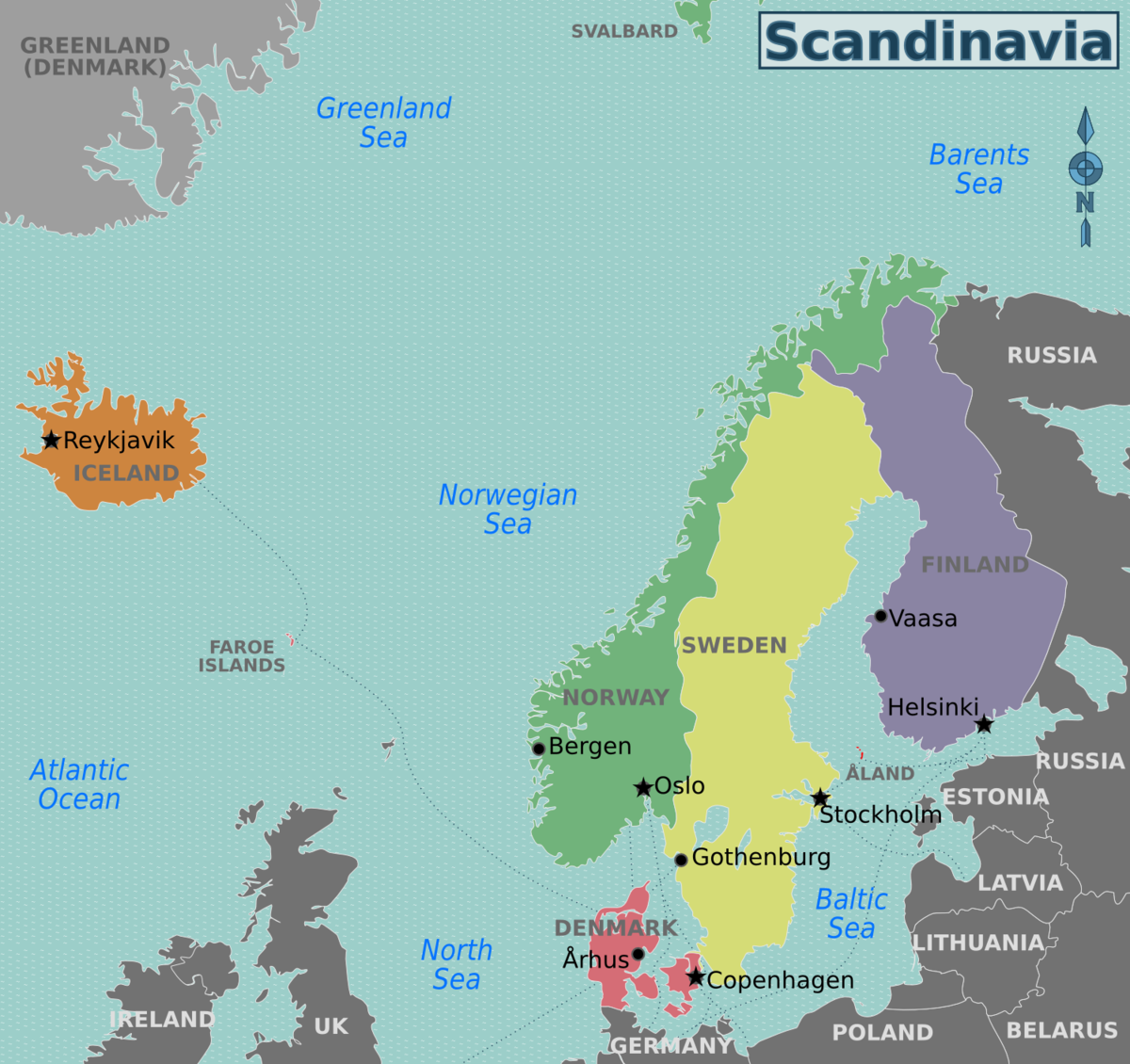 Nordic Countries Travel Guide At Wikivoyage Scandinavia Nordic Countries Finland