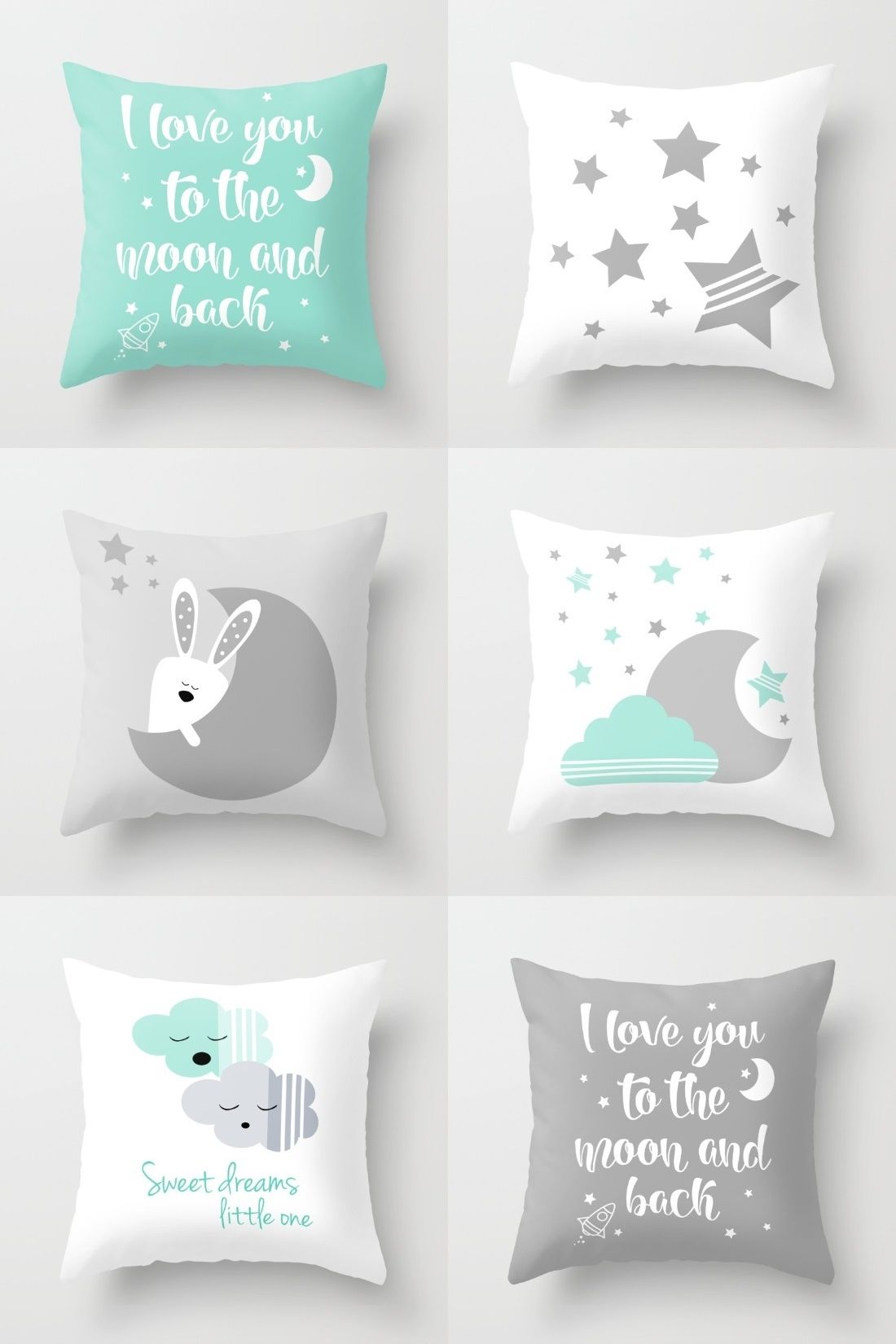 Mint And Gray Gender Neutral Nursery Decor Modern
